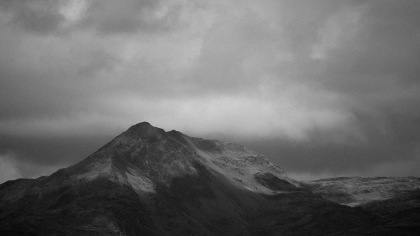 The greyscale mountain