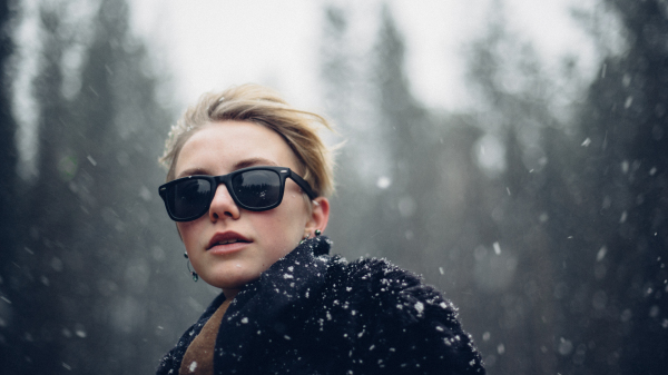 Snow and sunglasses