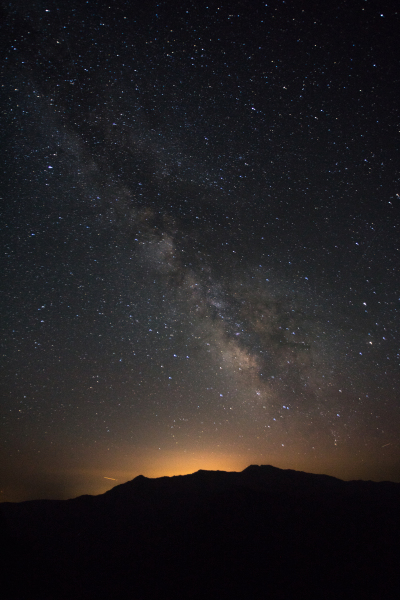 Milky-way over the mountains